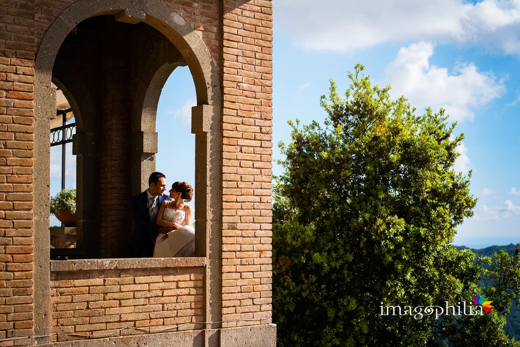 Ritratto degli sposi alle torri di Punta San Michele, Rocca di Papa