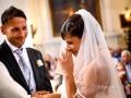 Commozione della sposa durante il matrimonio nella Chiesa di Santa Maria Assunta in Cielo ad Ariccia