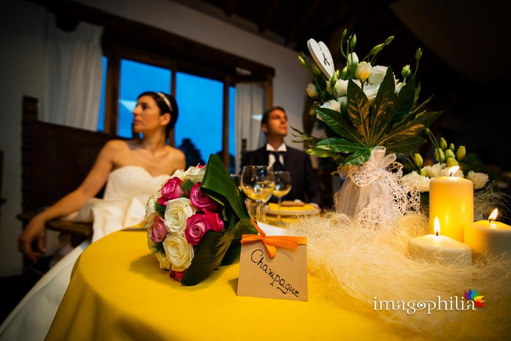 Ricevimento di matrimonio nella sala Massello all'interno del Borgo di Tragliata