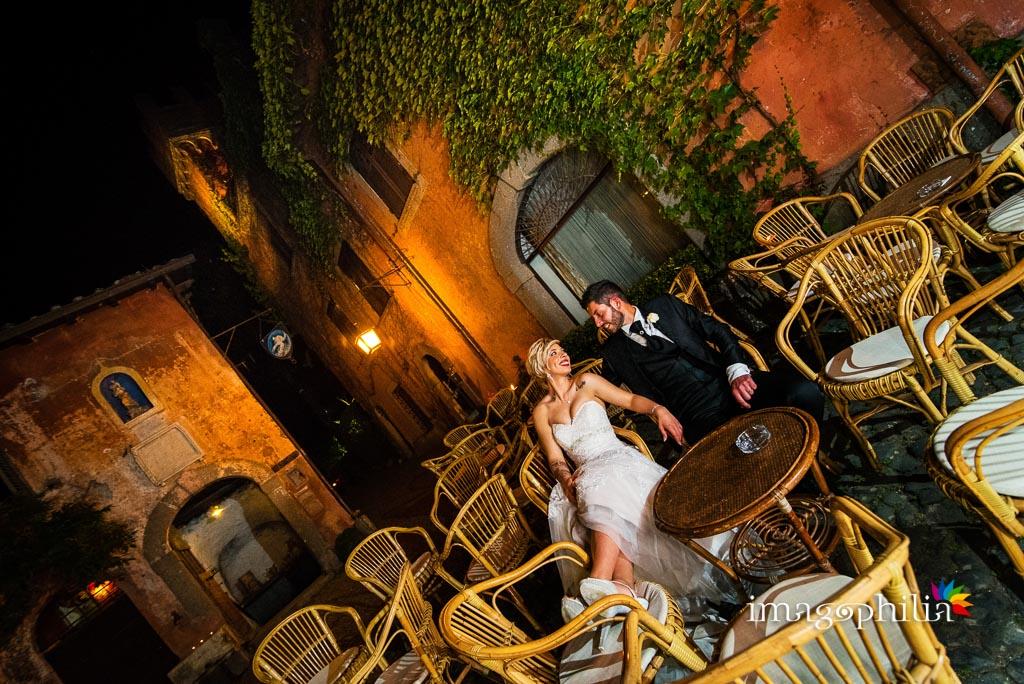 Gli sposi ritratti al Vecchio Borgo di Grottaferrata