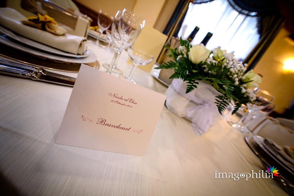 """Cavaliere in tema Scozia sul tavolo """"Braveheart"""" al Ristorante da Benito al Bosco, Velletri"""