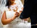 Dettaglio delle fedi durante il matrimonio nella Chiesa della Natività della Beata Vergine Maria a Santa Maria delle Mole