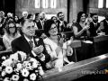 Applauso dei genitori della sposa subito dopo lo scambio delle fedi nella Chiesa della Natività della Beata Vergine Maria a Santa Maria delle Mole