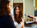 Gli sposi si scambiano le promesse durante il matrimonio nella Basilica di Santa Maria Ausiliatrice a Roma
