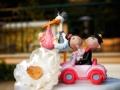 Cake topper e cicogna al ristorante La Foresta, Rocca di Papa