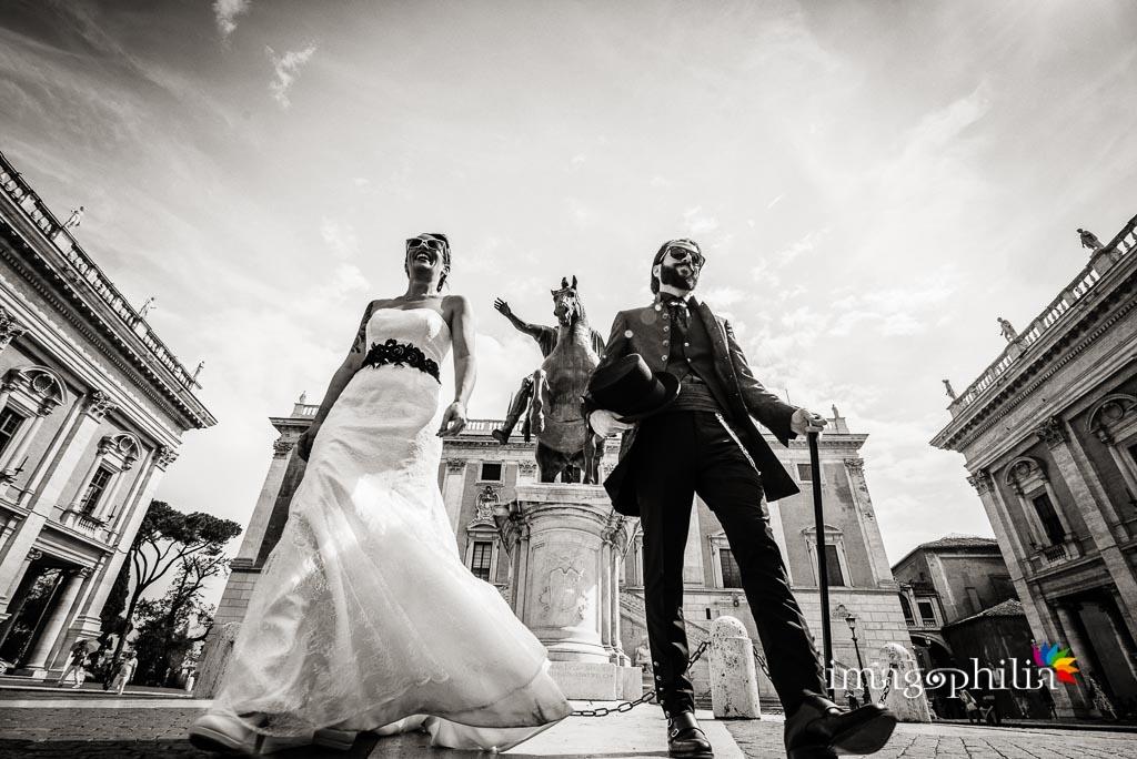Passeggiata degli sposi al Campidoglio, Roma