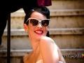 """La sposa """"pin-up"""" nei vicoli di Trastevere a Roma"""