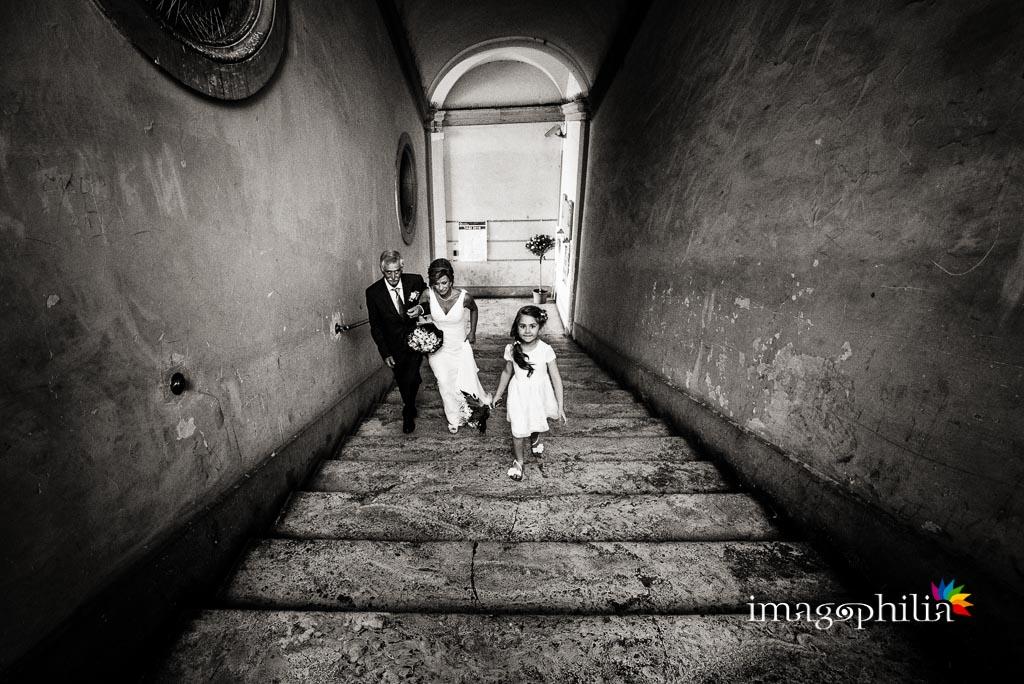Ingresso della sposa a Palazzo Orsini, sede del comune di Monterotondo