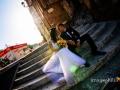 Ritratto degli sposi dopo il matrimonio all'Isola Tiberina, Roma