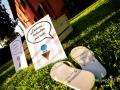 Matrimonio in infradito nella Villa Antico Melograno a Roma