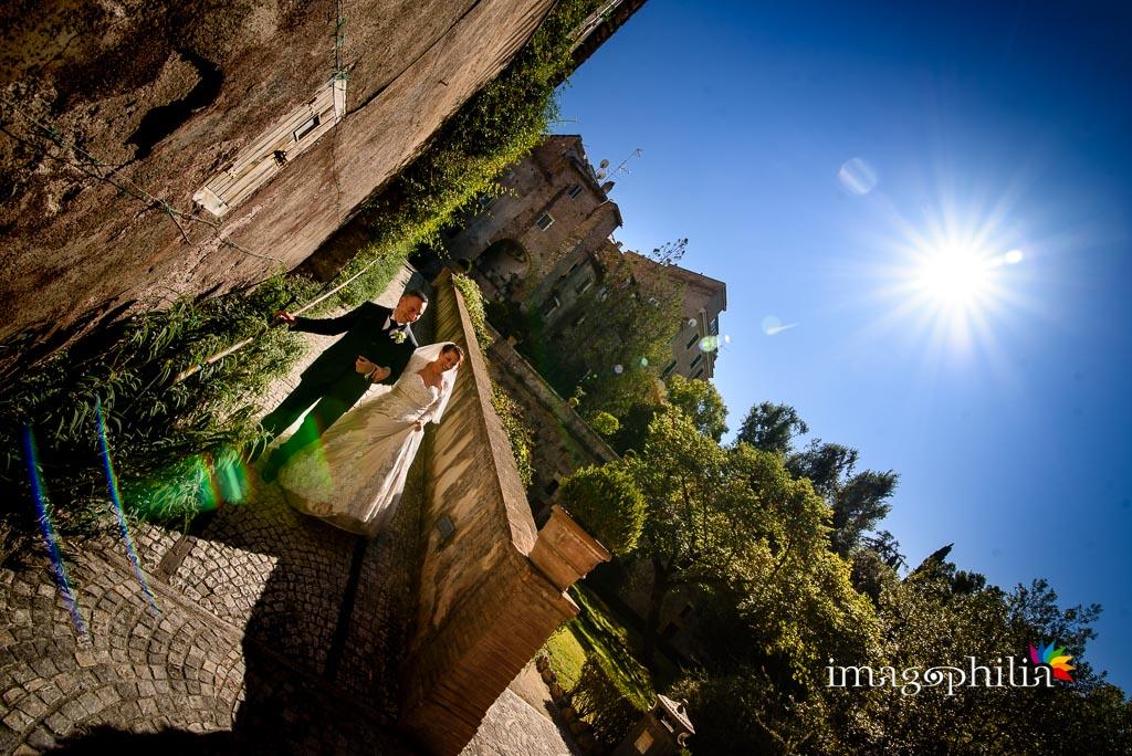 Passeggiata, dopo il matrimonio, a Villa d'Este a Tivoli / 1