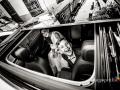 La sposa è arrivata in macchina insieme al figlio