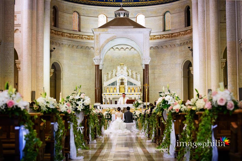 Veduta dal fondo della Chiesa di Santa Maria Madre della Divina Grazia di Grottaferrata