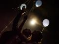 Lancio di palloncini alla fine del ricevimento di nozze nella Villa il Lago dei Cigni di Roma