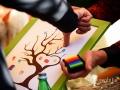 Dettaglio dell'albero delle impronte digitali (guestbook nuziale) a La Parisiana - Ristorante dei Laghi, Rocca di Papa