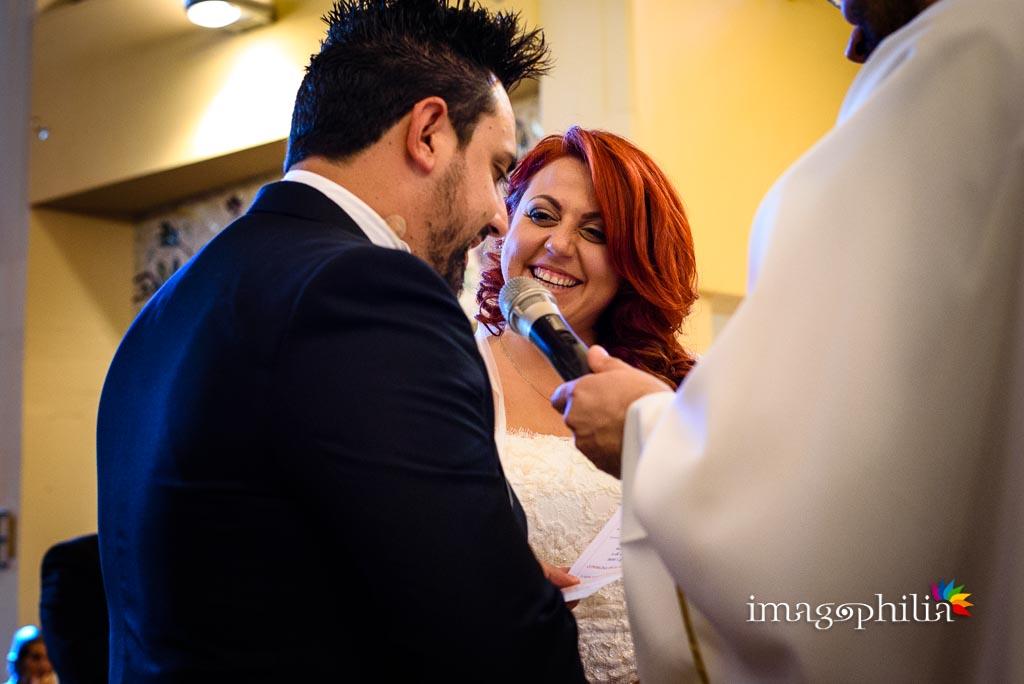 Promesse durante il matrimonio nella Chiesa di Gesù Maestro a Fonte Nuova