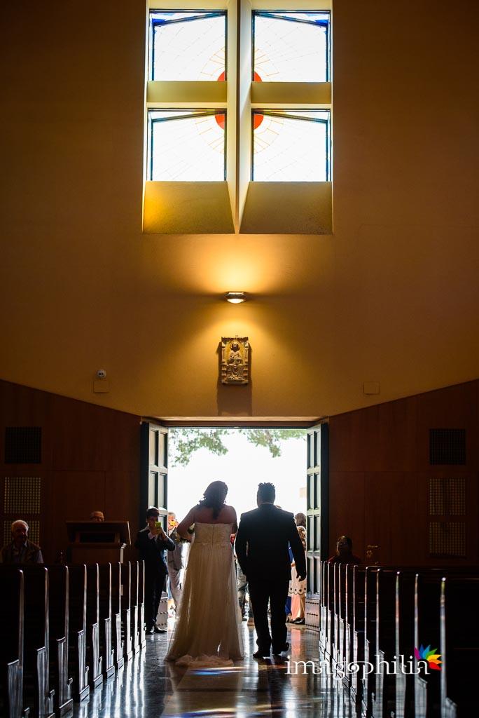Uscita al termine del matrimonio nella Chiesa di Gesù Maestro a Fonte Nuova