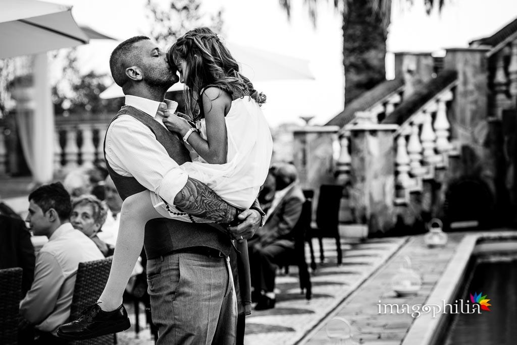 Teneri momenti durante il ricevimento di matrimonio a Villa Sesterzi, Fonte Nuova