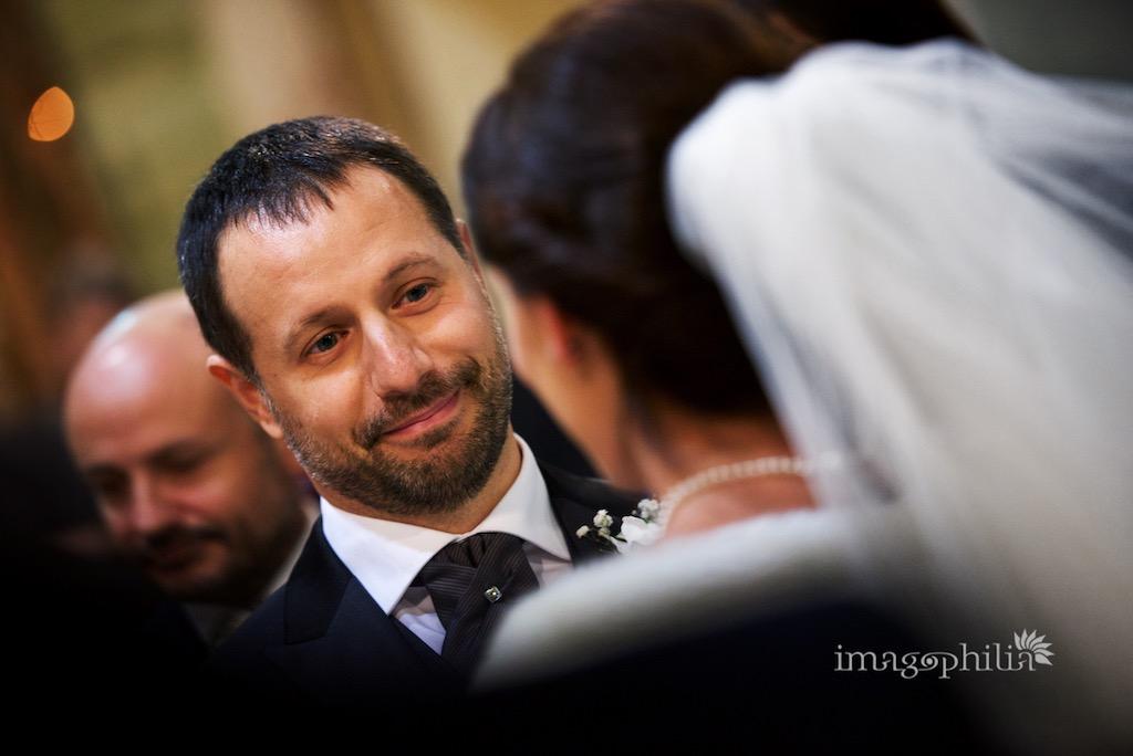 Scambio dei consensi durante il matrimonio nella Chiesa di San Silvestro a Montecompatri