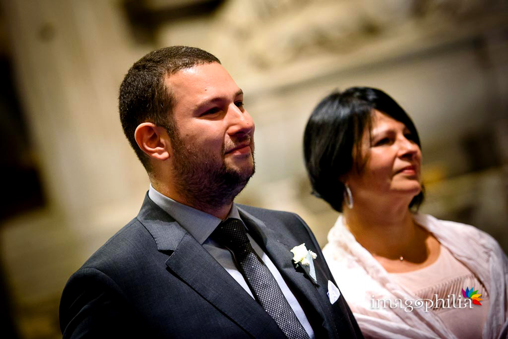 Ritratto dello sposo che vede la sposa entrare nella Chiesa di San Pietro in Montorio a Roma