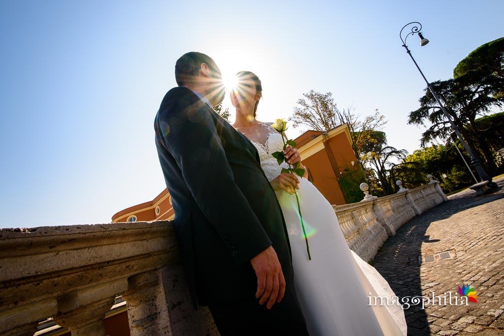 Post matrimonio: gli sposi ritratti in vetta al Gianicolo