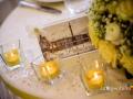 """Allestimento del tavolo degli sposi in tema """"città della Russia"""" nella sala di Villa Pocci a Marino"""