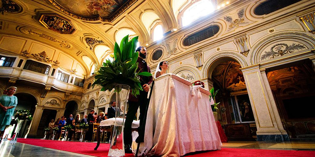 Matrimonio rock nella Basilica di Santa Cecilia in Trastevere a Roma