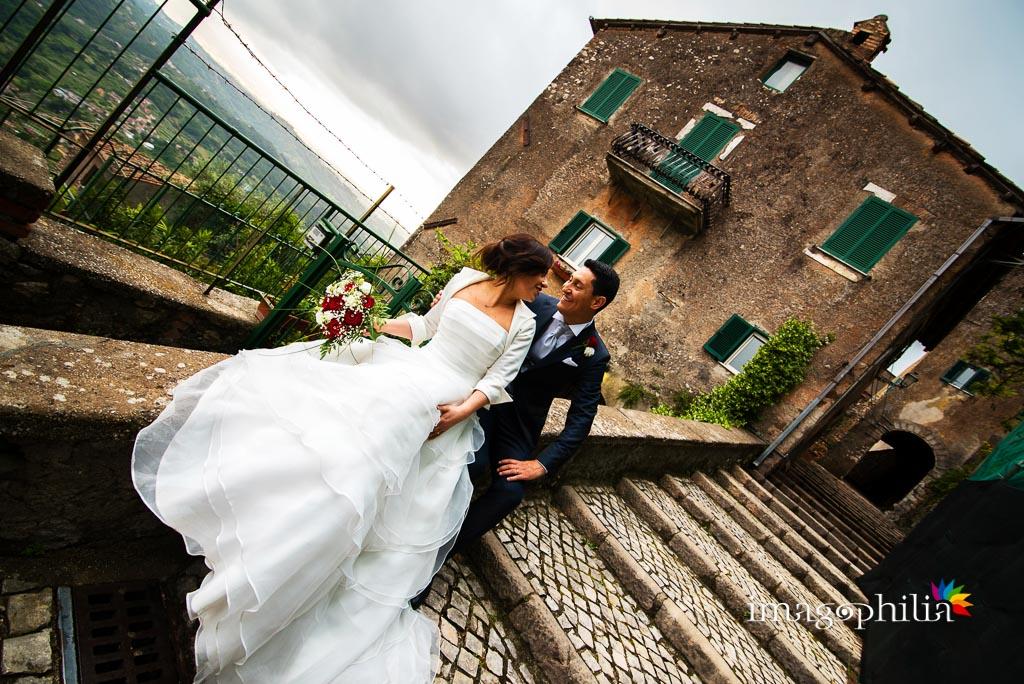 Ritratto degli sposi nel borgo di Serrone (FR)