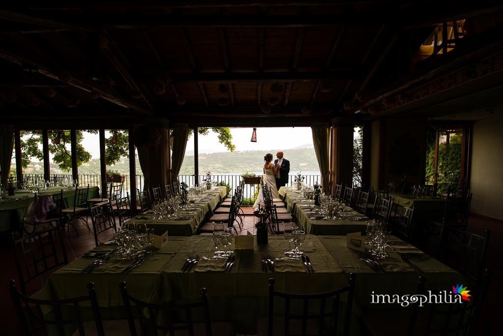 Gli sposi nel Ristorante Pagnanelli di Castel Gandolfo