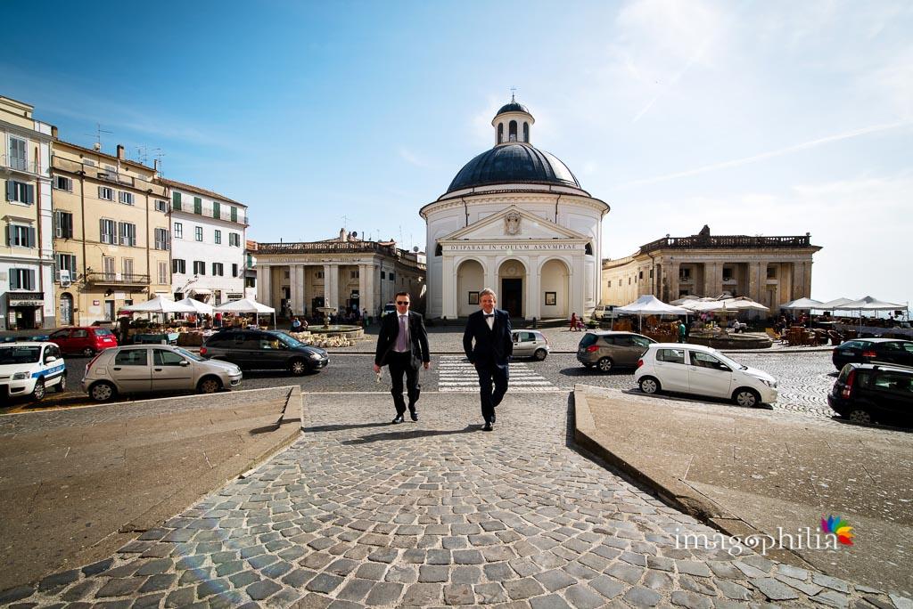 Arrivo dello sposo a Palazzo Chigi, Ariccia