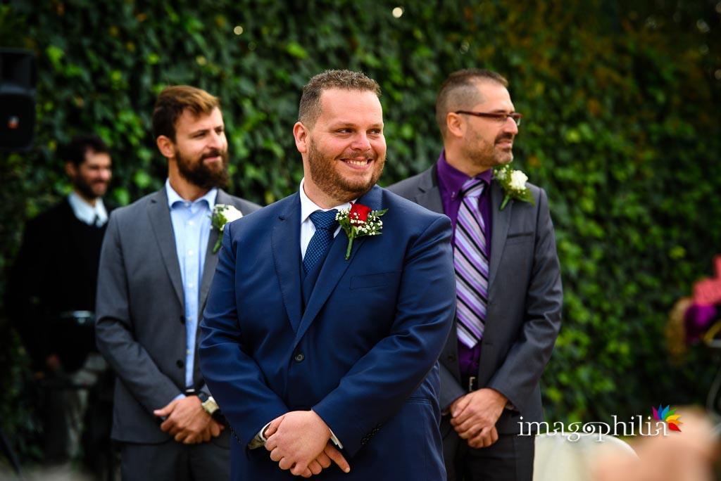 L'attesa dello sposo durante il matrimonio al New Green Hill di Roma