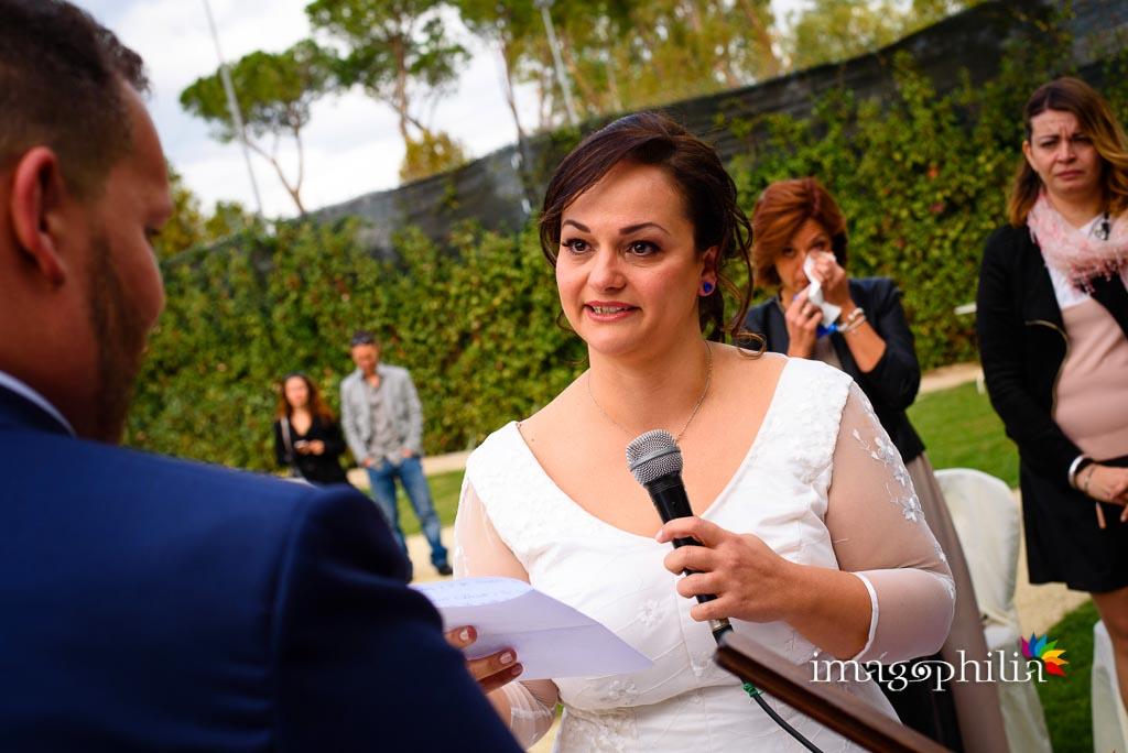 La promessa della sposa durante il matrimonio al New Green Hill di Roma
