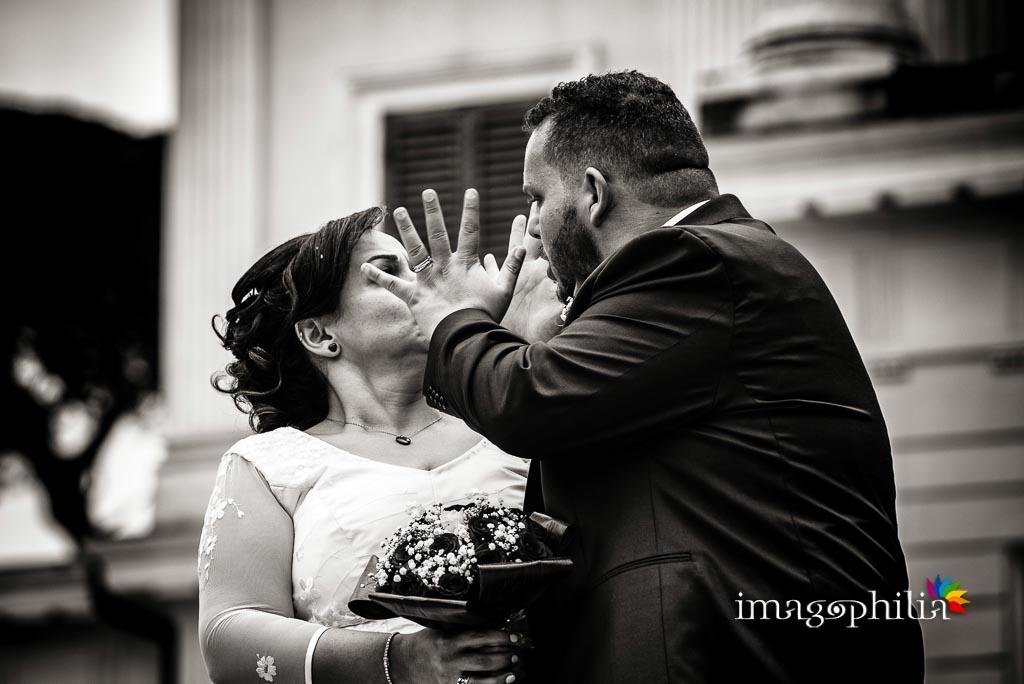 «Ma che te faccio!?» dello sposo alla sposa a Villa Torlonia, Roma