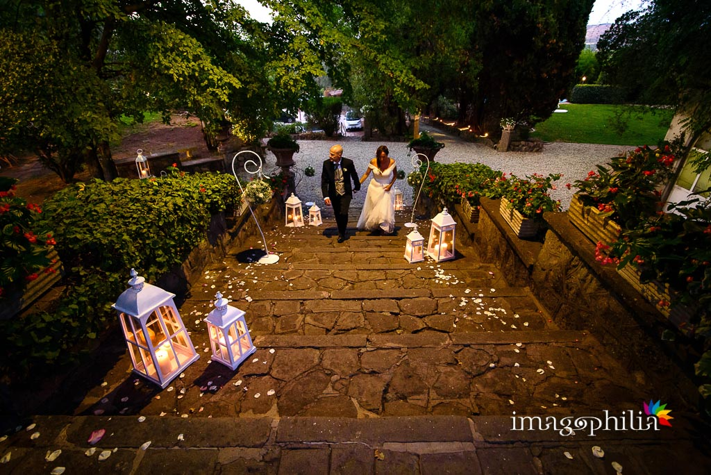 Ingresso, nuovamente, a Villa Pocci per il ricevimento di matrimonio