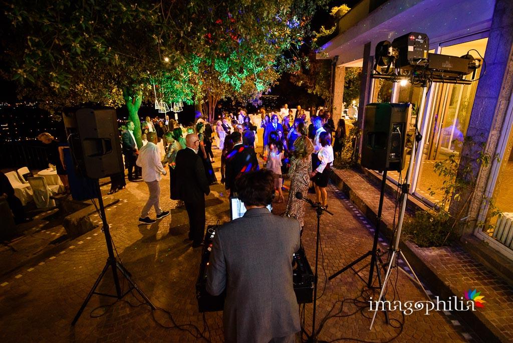 Balli al termine del ricevimento di matrimonio a Villa Pocci