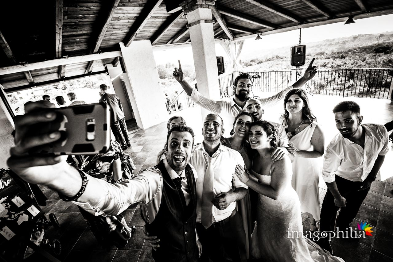 Selfie al termine del ricevimento di nozze al Borghetto d'Arci (agriturismo a Passo Corese)