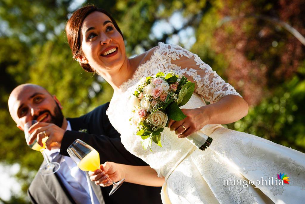 Brindisi tra gli sposi
