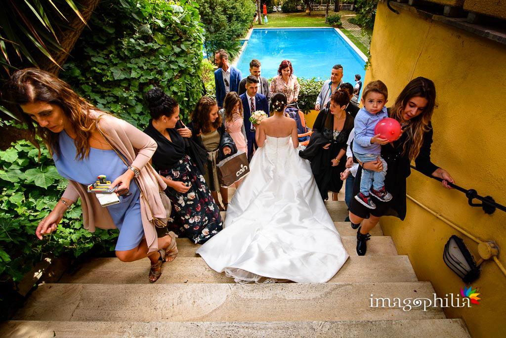 La sposa controcorrente al Ristorante da Benito al Bosco, Velletri