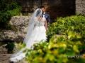 Gli sposi alle Ville Pontificie di Castel Gandolfo (giardino di Villa Barberini)