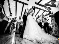 Primo ballo tra gli sposi durante il ricevimento di matrimonio al Casale Baldetti di Frascati