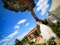 Lancio in aria dei palloncini durante il ricevimento di nozze presso Francesco Forti Ricevimenti a Roma