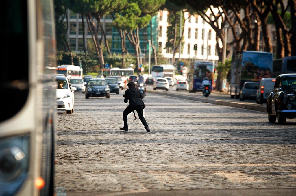 Nino su viale Aventino