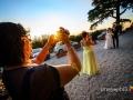 La foto del video della foto degli sposi (!) all'arrivo a Casale Baldetti, Frascati
