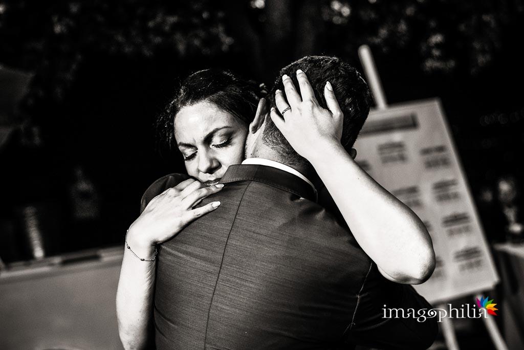 Primo ballo degli sposi durante il ricevimento a Villa Pocci, Marino