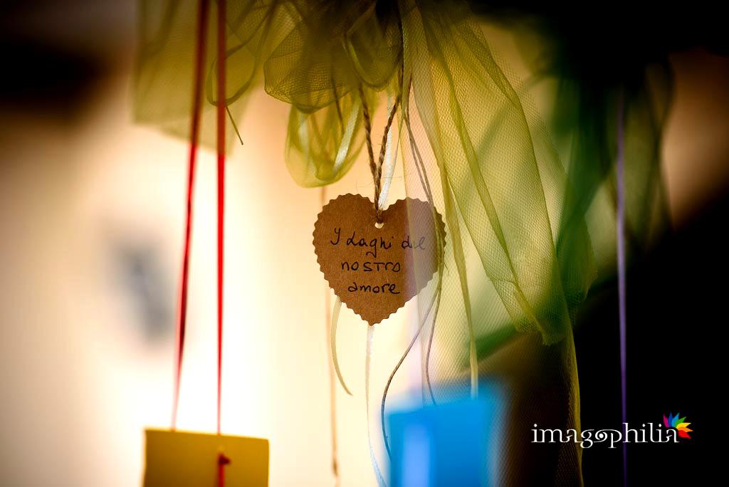 Tableau di matrimonio in tema lago nel ristorante Villa degli Angeli a Castel Gandolfo
