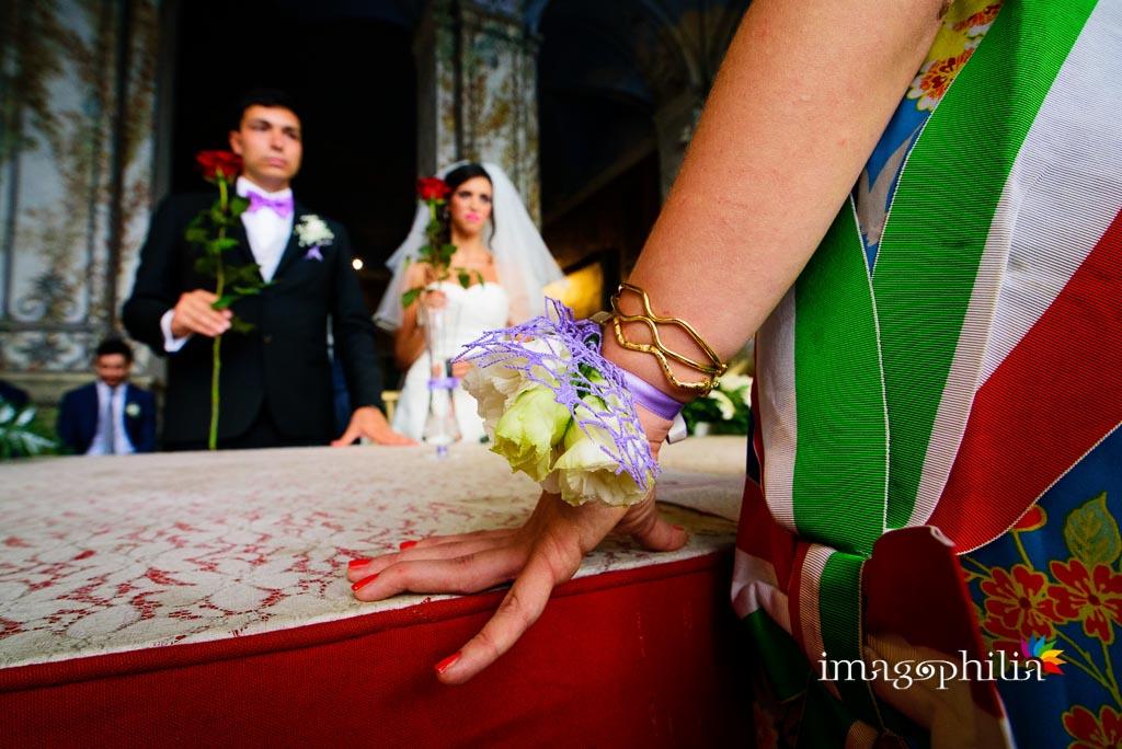 Matrimonio civile nella Sala da Pranzo d'Estate di Palazzo Chigi ad Ariccia