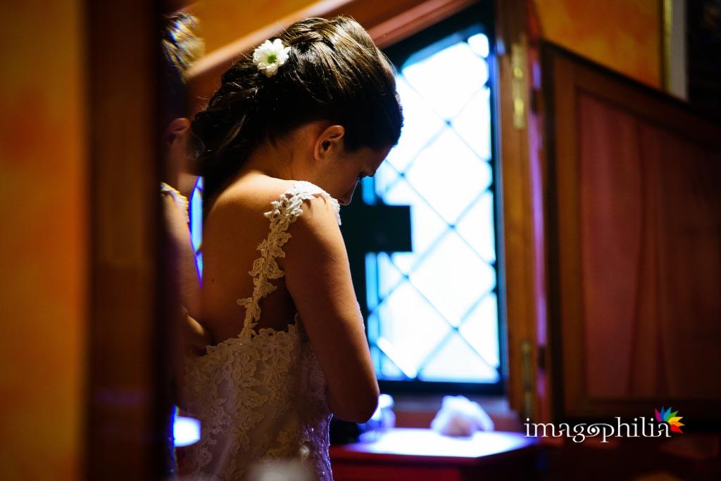 La sposa durante la preparazione