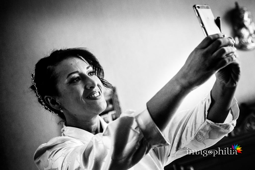 Selfie della sposa