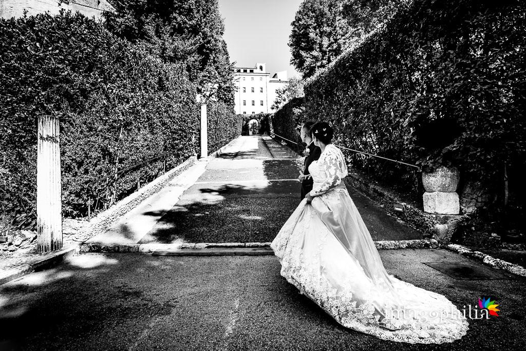 Passeggiata, dopo il matrimonio, a Villa d'Este a Tivoli / 3