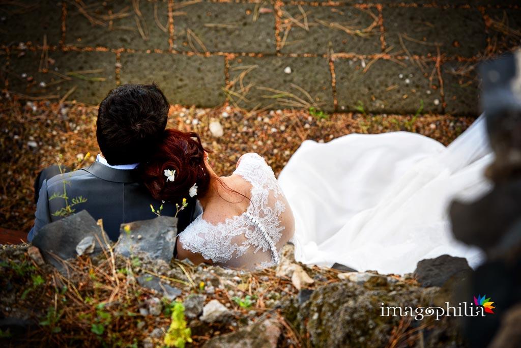 Gli sposi si coccolano nella Villa dei Consoli di Frascati